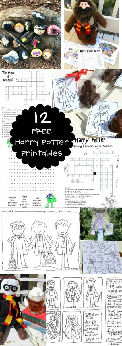 FREE Harry Potter Printable Activities Games Puzzles