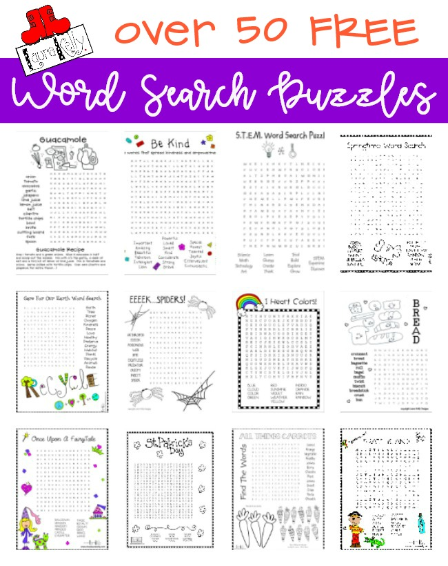 FREE Word Search Puzzles Over 50