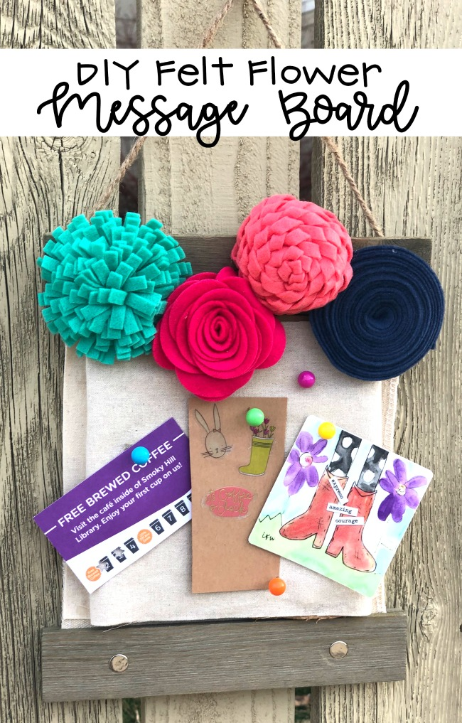 Felt Flower Message Board
