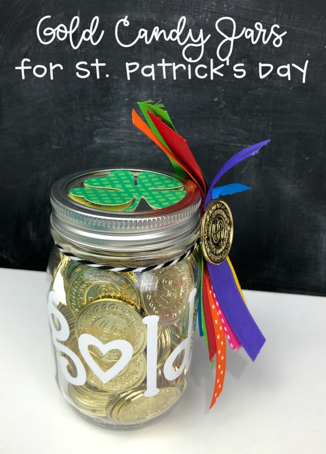 Gold Candy Jars For St Patricks Day