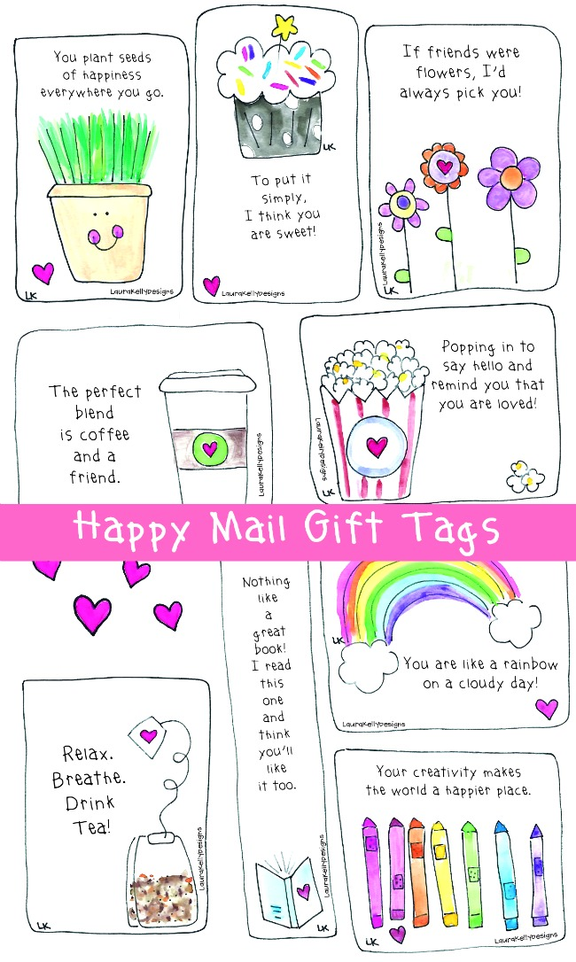 Happy Mail Tags Free Printable