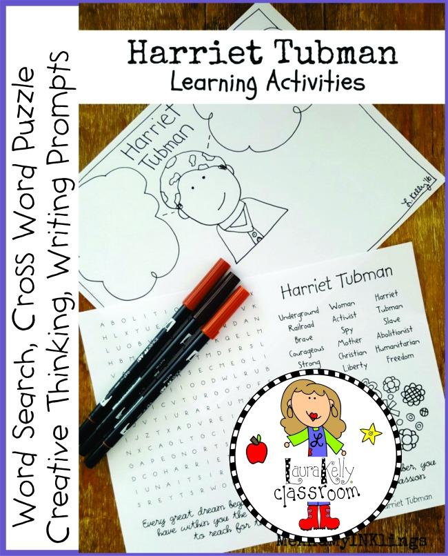 Harriet Tubman FREE Printable Activities Pack
