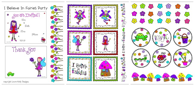 Laura Kelly Printable Fairy Party FREE