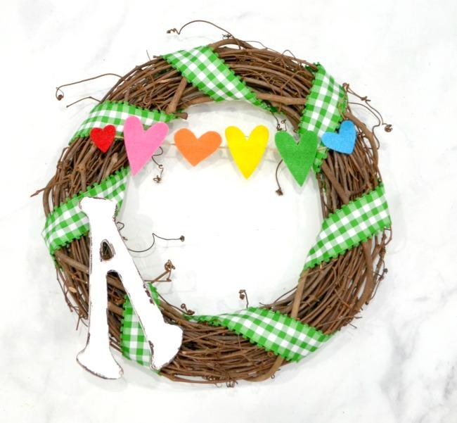 Rainbow Grapevine Wreath