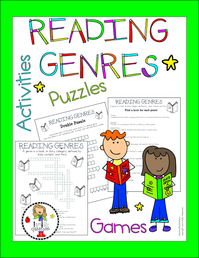 Reading Genres Printable Activity Pack