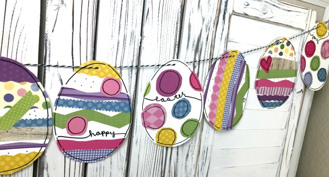 Sticker Egg Garland