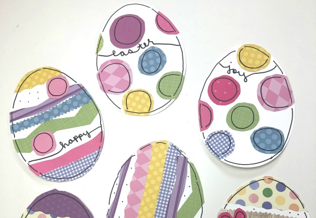 Sticker Eggs with Doodles