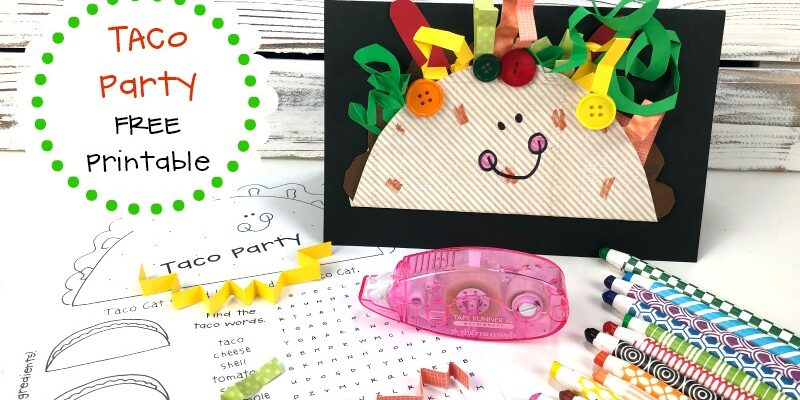 Taco Party Free Printable Activities and Pattern