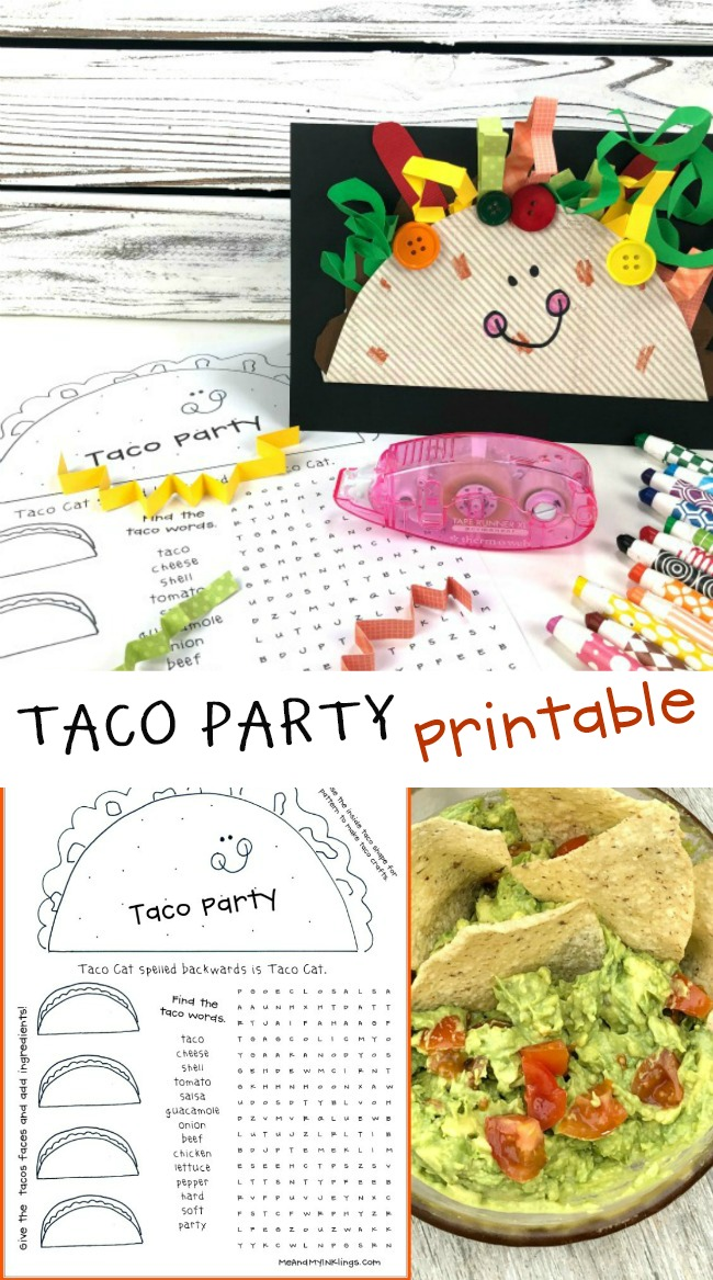 Taco Party Printable Free Activities