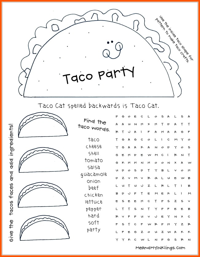 Taco Party Word Search