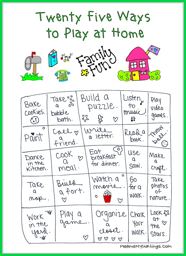 25 Things for Families to Do Together at Home