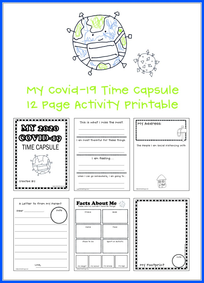 Covid 19 Time Capsule Printable Resource for Kids Free Downloadable File