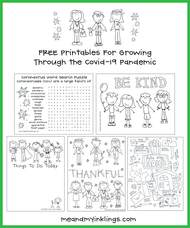 Covid19 Printables FREE for Kids