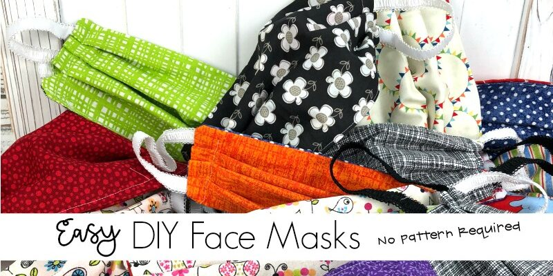 DIY Easy Sew Face Mask That Don't Need a Pattern to Make