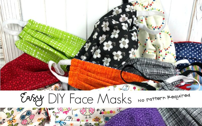 DIY Easy Sew Face Mask Pattern