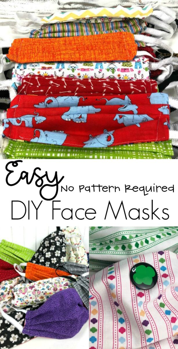 DIY Easy Sew Face Mask That Don't Need a Pattern
