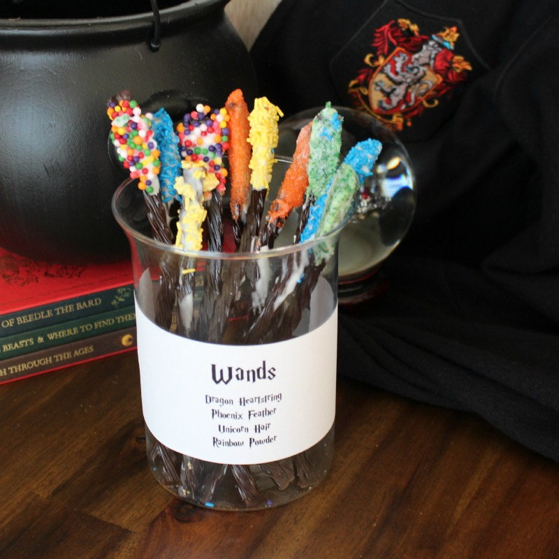 Licorice Wands for Harry Potter Party