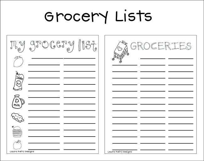 Free Printable Grocery Planning Lists