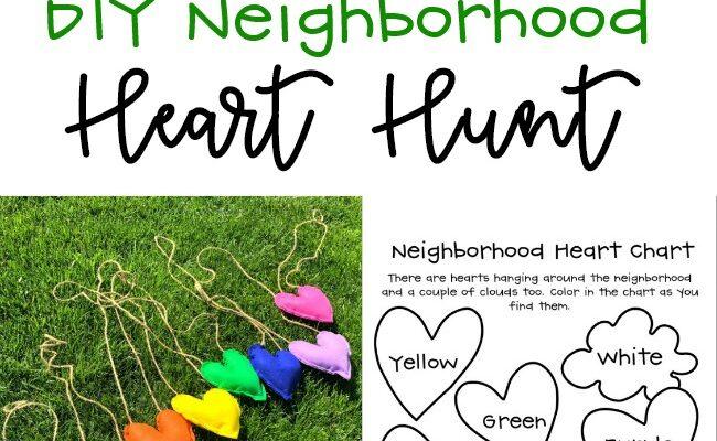 Neighborhood DIY Heart Hunt