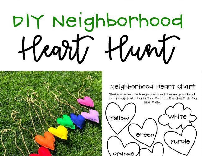 DIY Neighborhood Heart Hunt