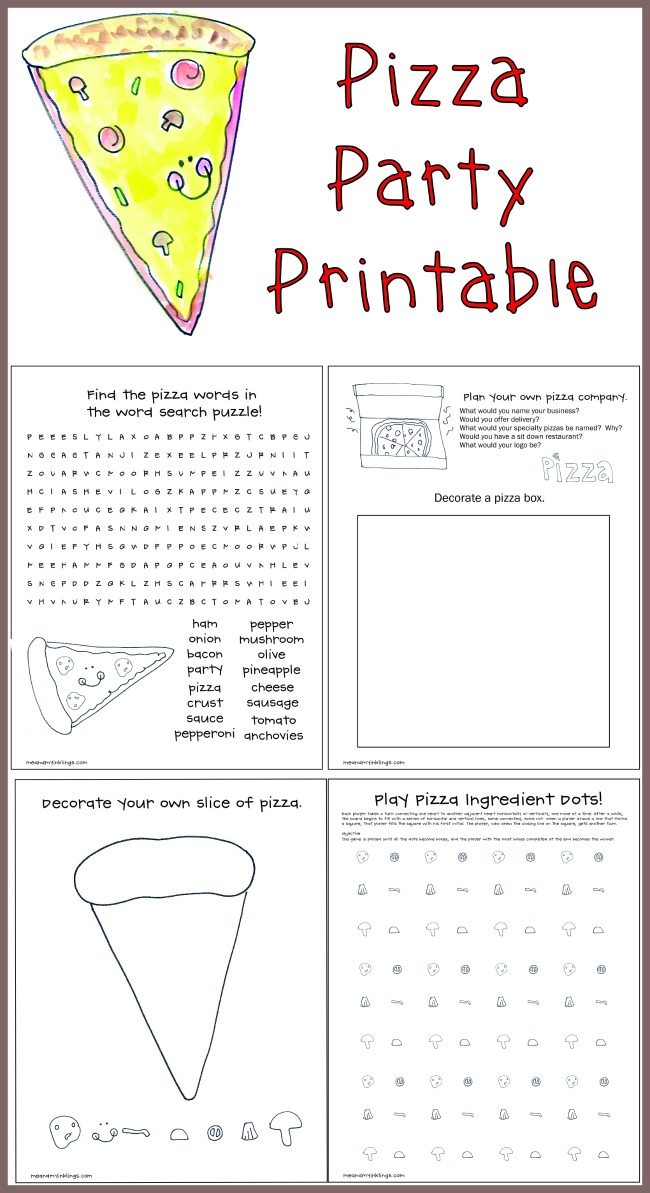 Pizza Party FREE Printable