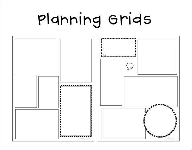 Planner Grid Free Printable Download for Organization