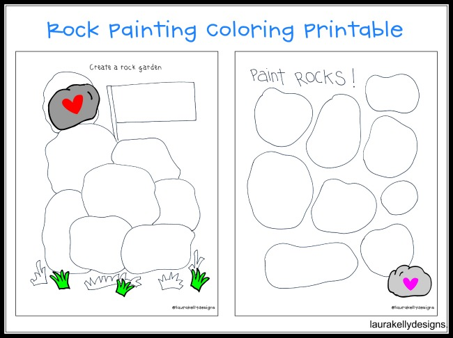Rock Painting Coloring Printable