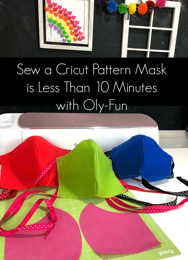 Sew a Cricut Pattern Mask in Less than 10 Minutes