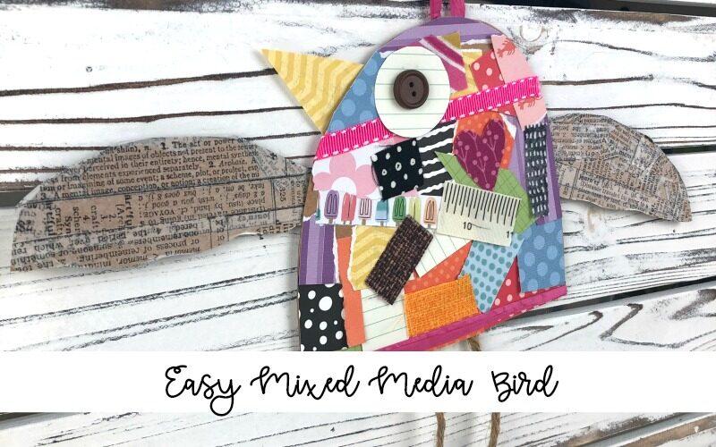 Easy Mixed Media Bird