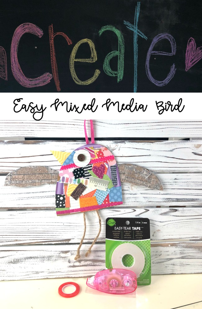 Easy Mixed Media Bird Craft Project