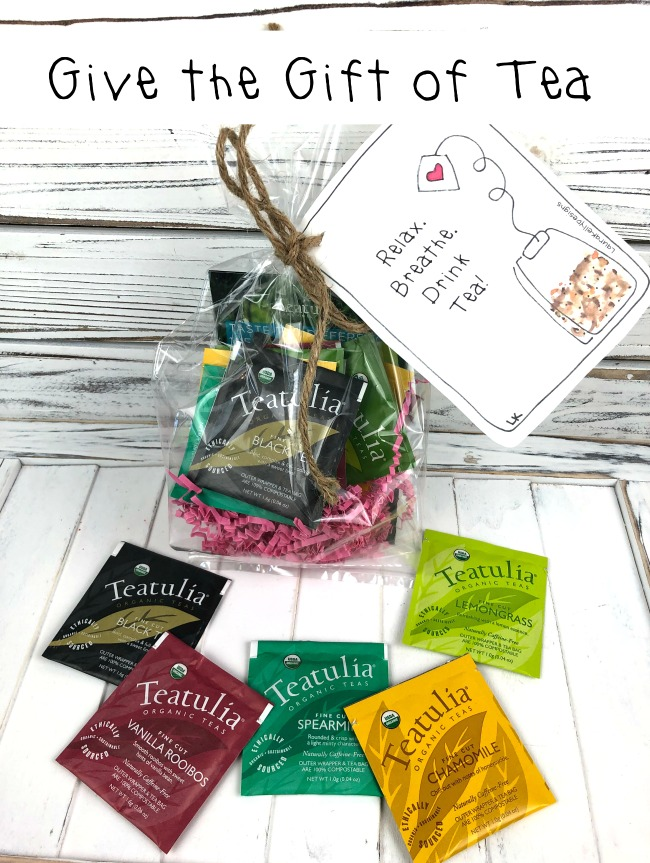 Give the Gift of Tea Free Printable Tag