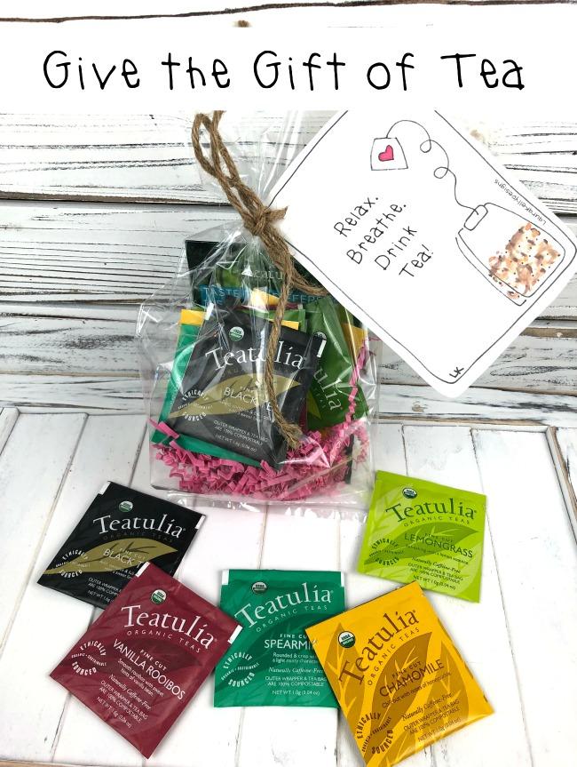 Give the Gift of Tea Free Printable Tag