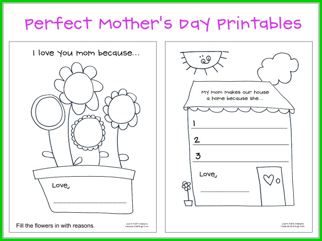 Free Mother's Day Printable Activities for Kids