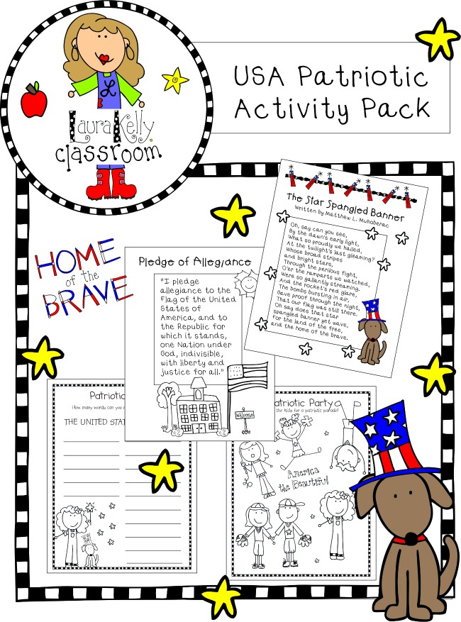 Patriotic Activity Pack Free Printable Collection
