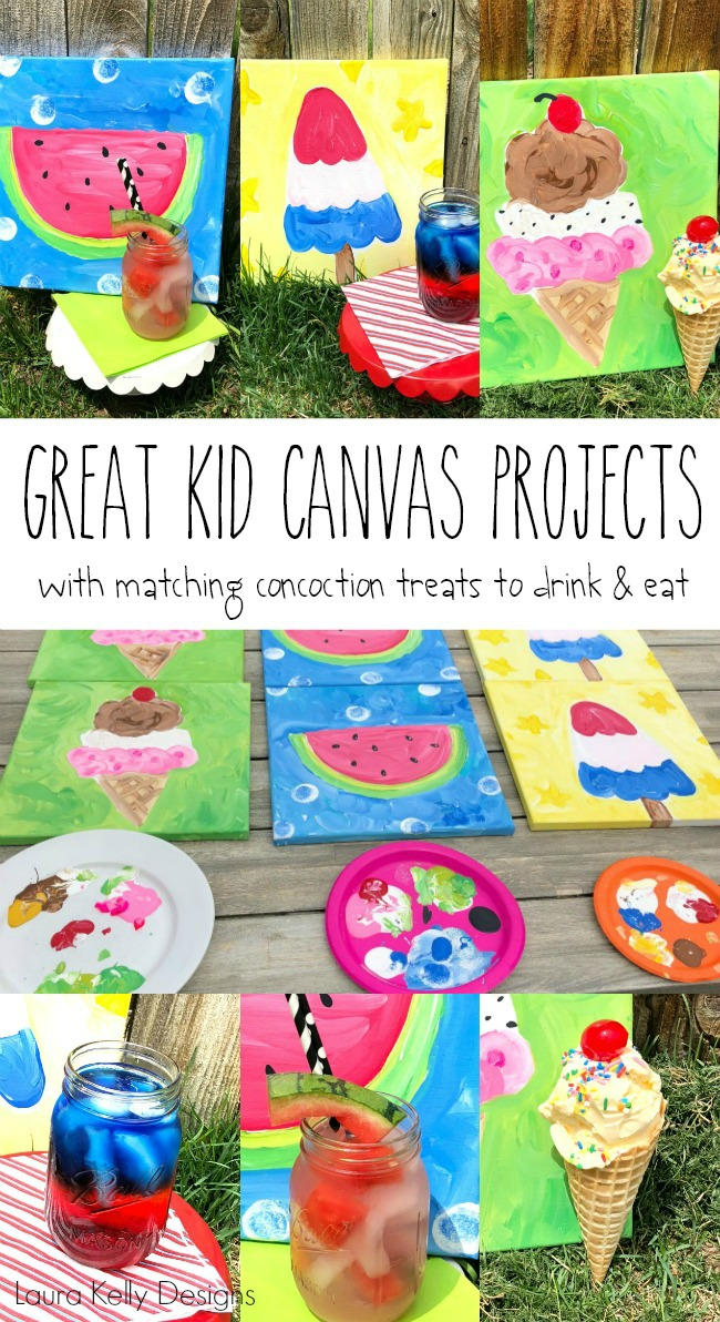 Easy to Paint Canvas Ideas for Kids