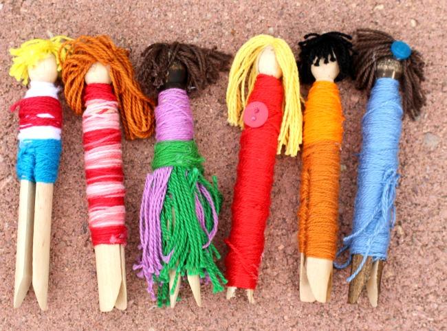 Diversity Craft Clothespin Dolls
