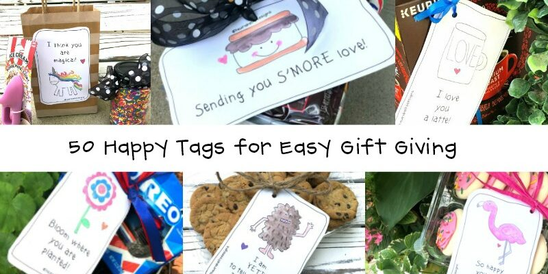 Happy Tags for Creating Easy Gift Giving Ideas