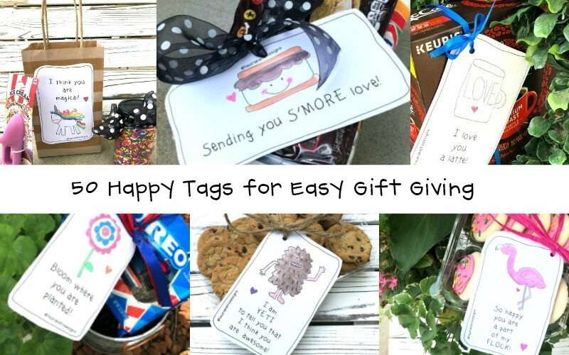 Happy Tags Printables for Easy Gift Ideas