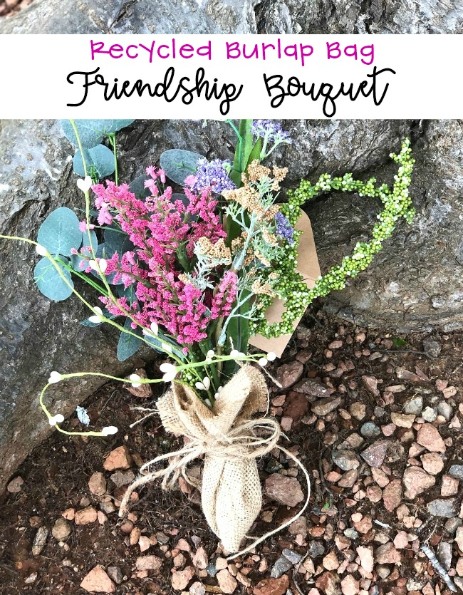 Recycled Burlap Bag Friendship Bouquet