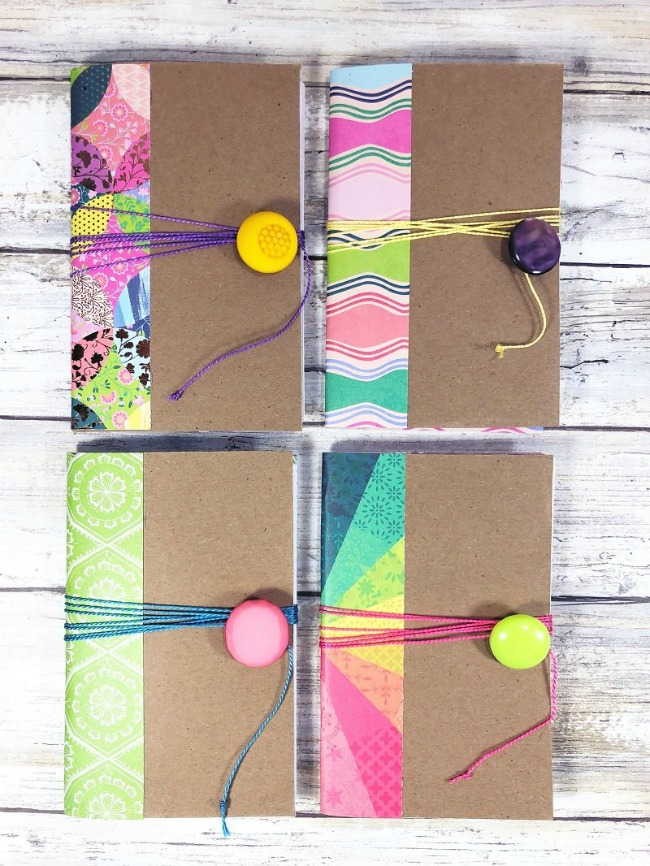 recycled cereal box journals