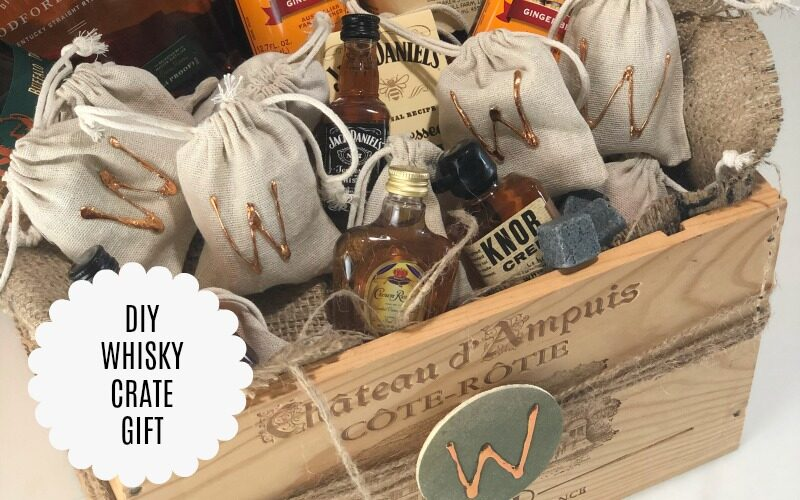 DIY Whisky Crate Gift