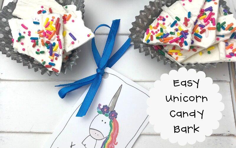 Unicorn Candy Bark with Printable Tag