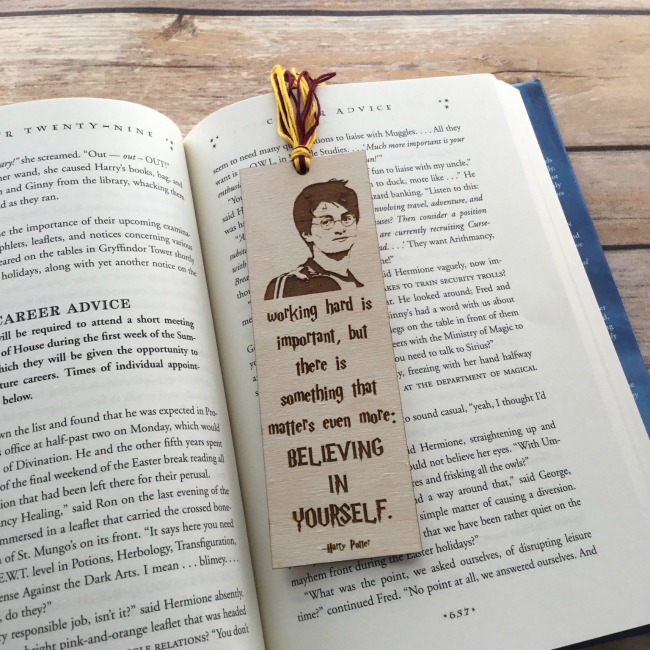 Laser Cut Harry Potter Bookmark