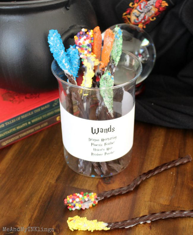 Licorice Wands for Harry Potter Party Treat