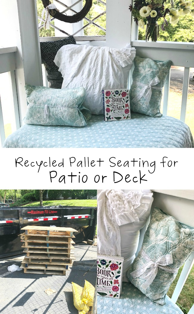 Recycled Pallet Sofa for Patio or Deck